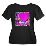 I (Heart) Condoms Women's Plus Size Scoop Neck Dar