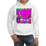 I (Heart) Condoms Hooded Sweatshirt