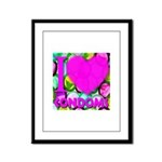 I (Heart) Condoms Framed Panel Print