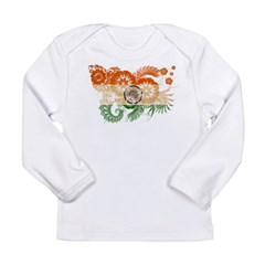 India Flag Long Sleeve Infant T-Shirt