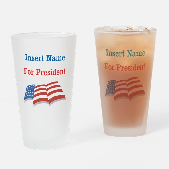 Personalized For President Drinking Glass