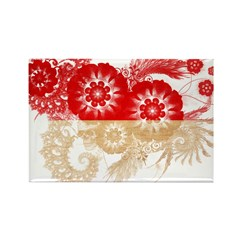 Indonesia Flag Rectangle Magnet (10 pack)