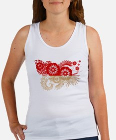 Indonesia Flag Women's Tank Top