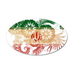 Iran Flag 38.5 x 24.5 Oval Wall Peel