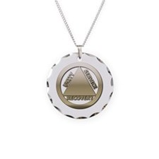 AA13 Necklace Circle Charm