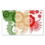 Italy Flag Sticker (Rectangle 50 pk)