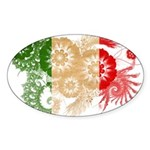 Italy Flag Sticker (Oval 50 pk)