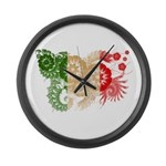 Italy Flag Large Wall Clock