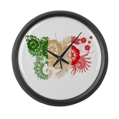 Italy Flag Large Wall Clock