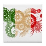 Italy Flag Tile Coaster