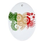 Italy Flag Ornament (Oval)