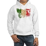 Italy Flag Hooded Sweatshirt
