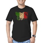 Italy Flag Men's Fitted T-Shirt (dark)