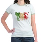 Italy Flag Jr. Ringer T-Shirt