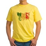 Italy Flag Yellow T-Shirt