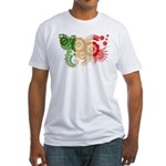 Italy Flag Fitted T-Shirt