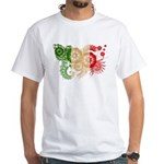 Italy Flag White T-Shirt