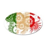Italy Flag 22x14 Oval Wall Peel