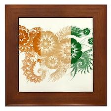 Ivory Coast Flag Framed Tile