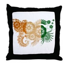 Ivory Coast Flag Throw Pillow