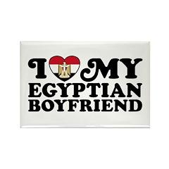 I Love My Egyptian Boyfriend Rectangle Magnet