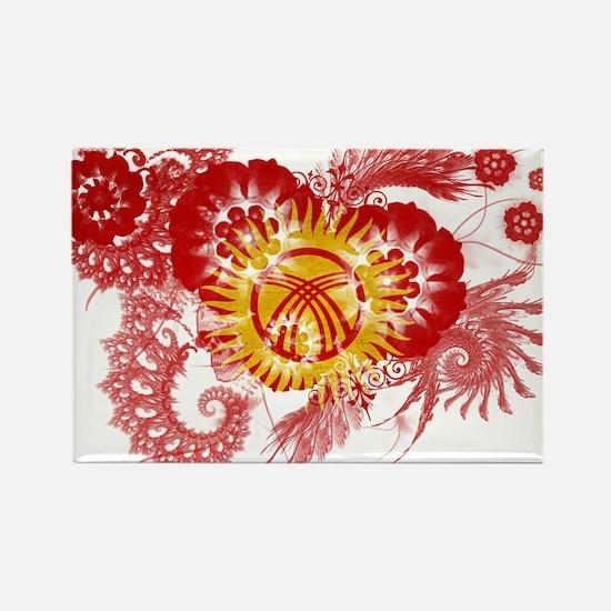 Kyrgyzstan Flag Rectangle Magnet