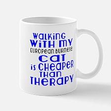 Walking With My european burmese Mug