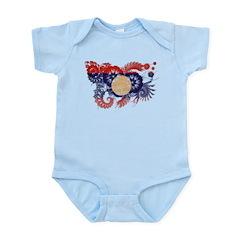 Laos Flag Infant Bodysuit