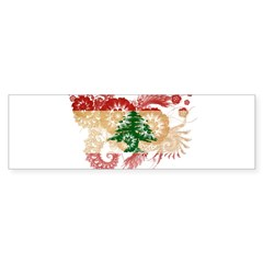 Lebanon Flag Bumper Sticker