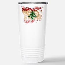 Lebanon Flag Travel Mug