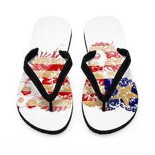 Liberia Flag Flip Flops