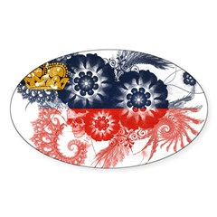 Liechtenstein Flag Sticker (Oval)