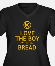 Love the Boy with the Bread Women's Plus Size V-Ne
