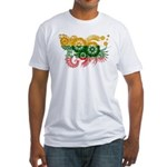 Lithuania Flag Fitted T-Shirt