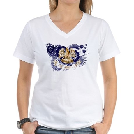Louisiana Flag Women's V-Neck T-Shirt