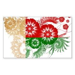 Madagascar Flag Sticker (Rectangle 50 pk)