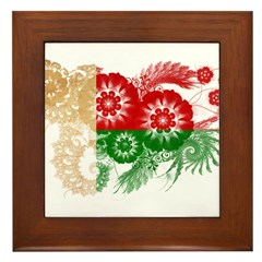 Madagascar Flag Framed Tile
