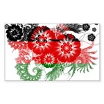 Malawi Flag Sticker (Rectangle 50 pk)
