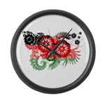 Malawi Flag Large Wall Clock