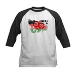 Malawi Flag Kids Baseball Jersey