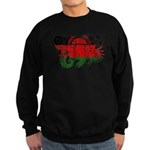 Malawi Flag Sweatshirt (dark)