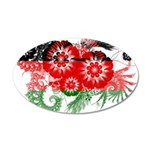 Malawi Flag 22x14 Oval Wall Peel