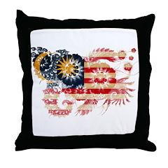 Malaysia Flag Throw Pillow