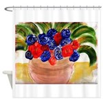 Flowers in Pot Shower Curtain