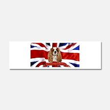 Cute British flag Car Magnet 10 x 3