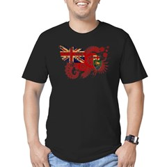 Manitoba Flag Men's Fitted T-Shirt (dark)