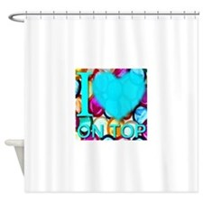 I (Heart) On Top Shower Curtain
