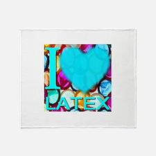 I (Heart) Latex Throw Blanket