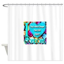 Why I (Heart) Condoms Shower Curtain