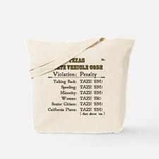Texas Vehicle Code Tote Bag